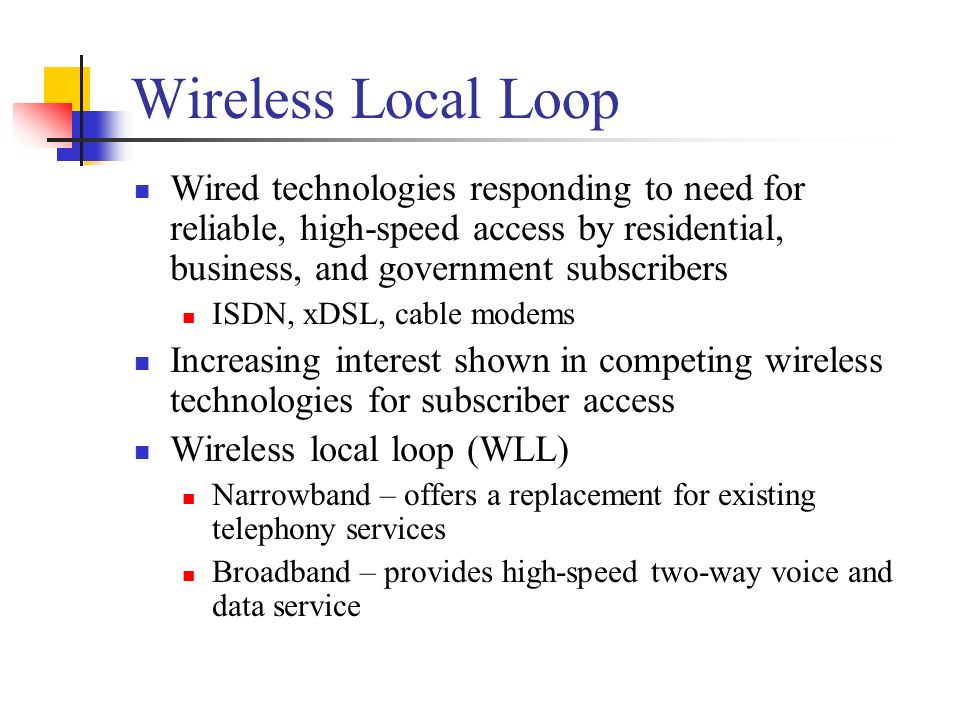 WiMAX Chapter 11  Wireless Technologies WWAN (proposed) WMAN 70 Mbps