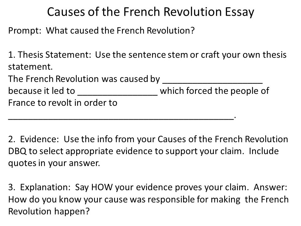 French Rev Essay Next Step Prepping For Your Essay You Will   Causes Of The French Revolution Essay  Essay For English Language also Advanced English Essay  The Yellow Wallpaper Essay