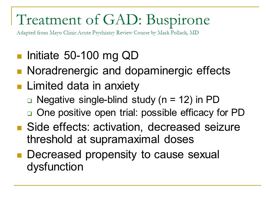Pharmacologic Treatment of Anxiety Disorders in Primary Care ©Yvonne
