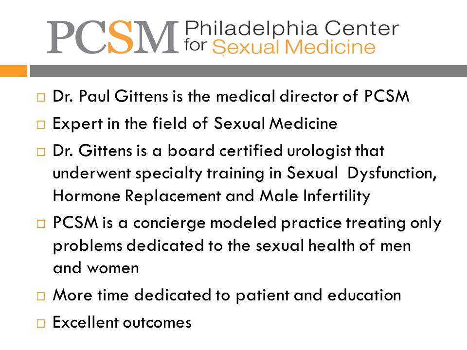 Sexual medicine philadelphia