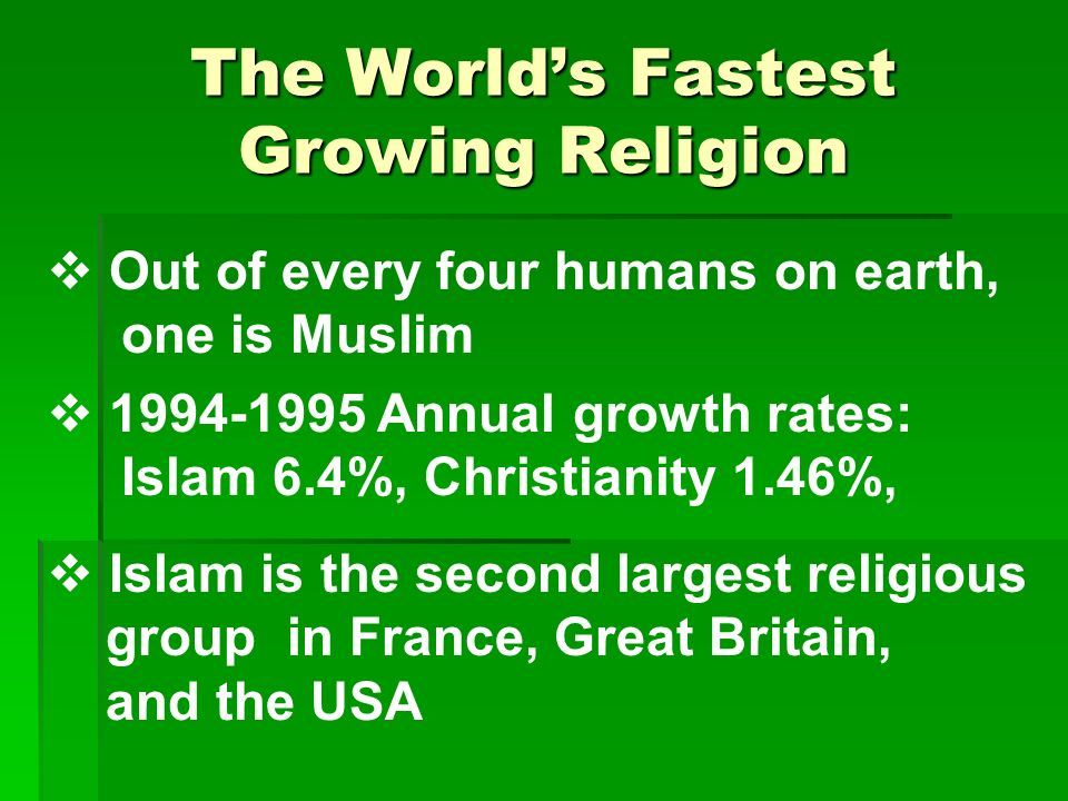 worlds fastest growing religion