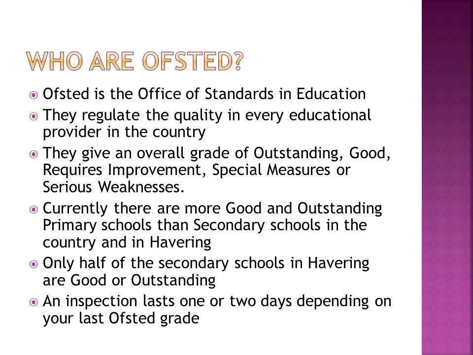 office for standards in education ofsted