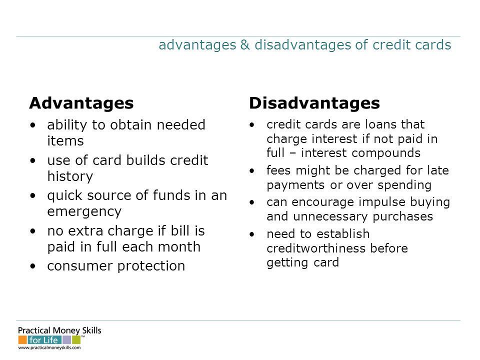 Advantages Of Credit Card >> Teens Lesson Eight Credit Cards Presentation Slides 04 Ppt