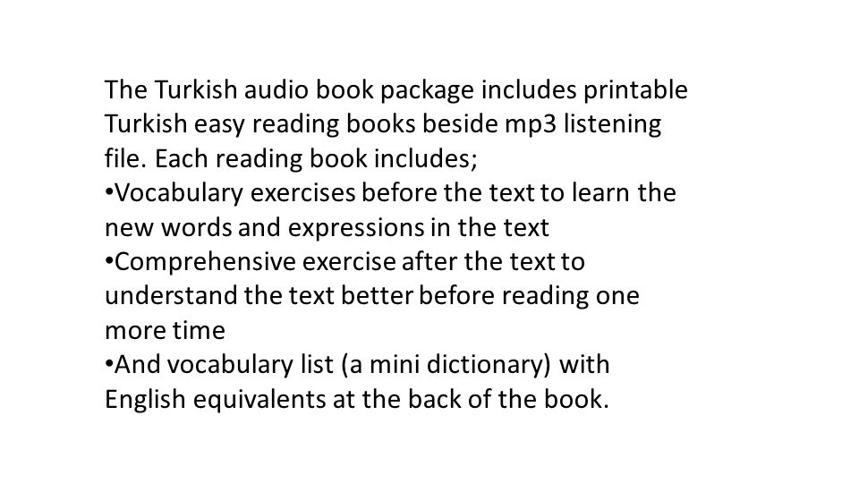 Turkish Language Audiobooks For Beginners – 20 % OFF! - ppt download