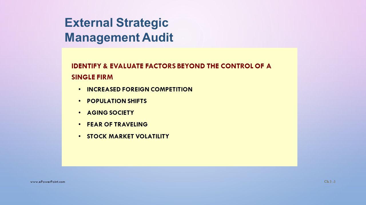 strategic audit ppt