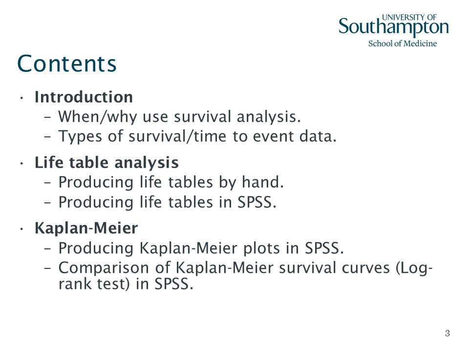 Kaplan Meier Survival Analysis Spss