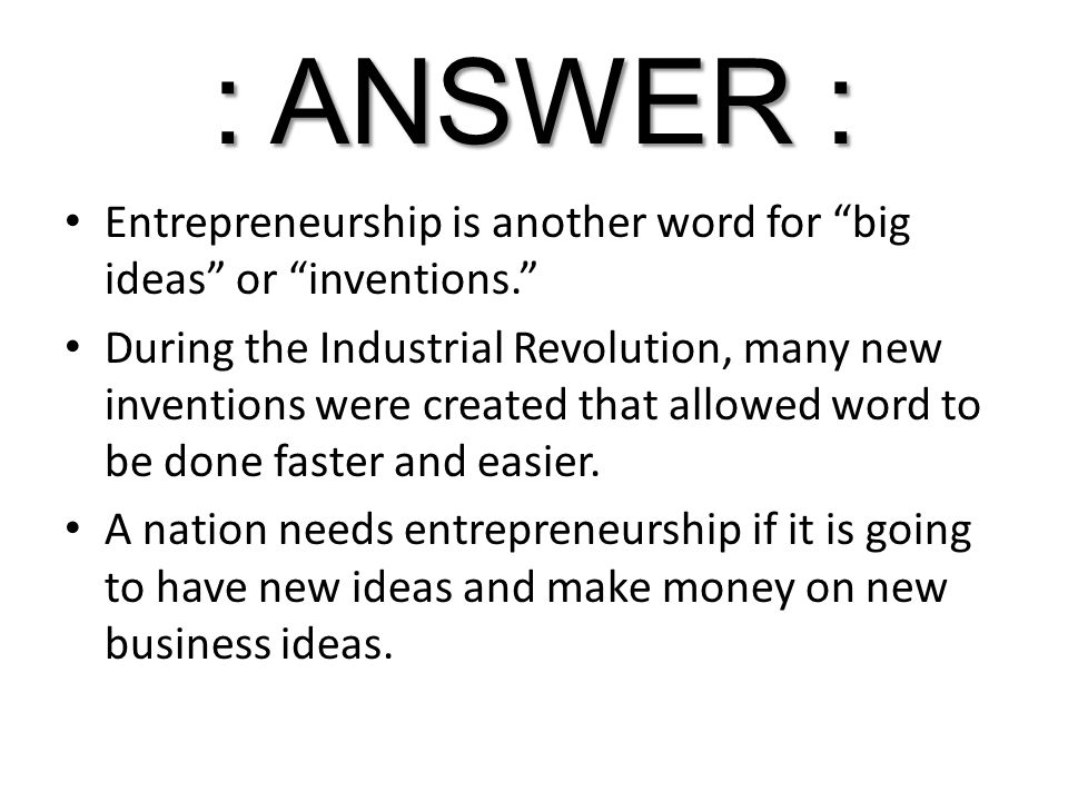 another word for new ideas