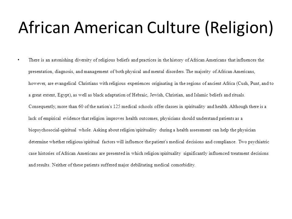 African-american rituals and beliefs of ancient
