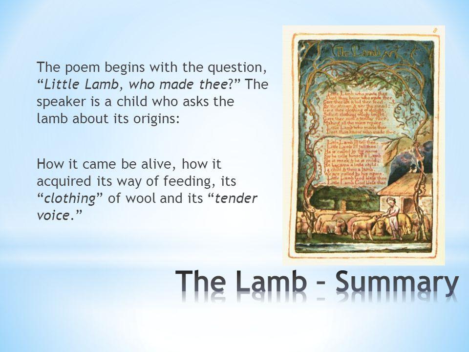 the lamb summary