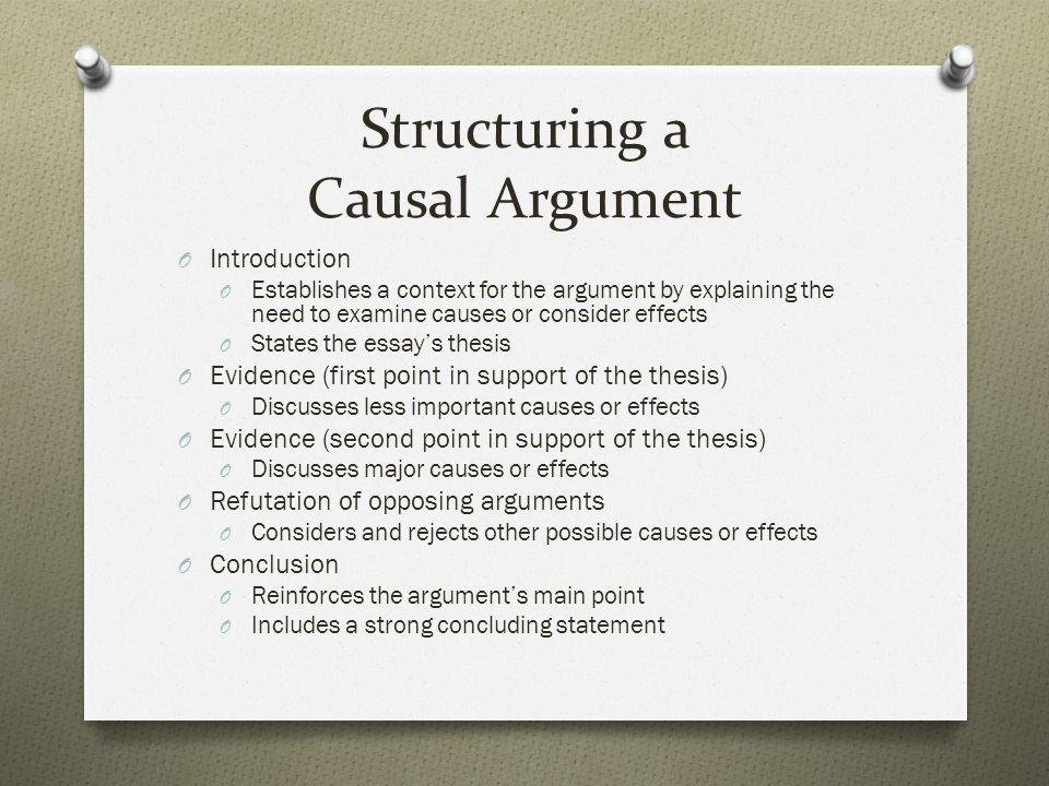 causal argument topics