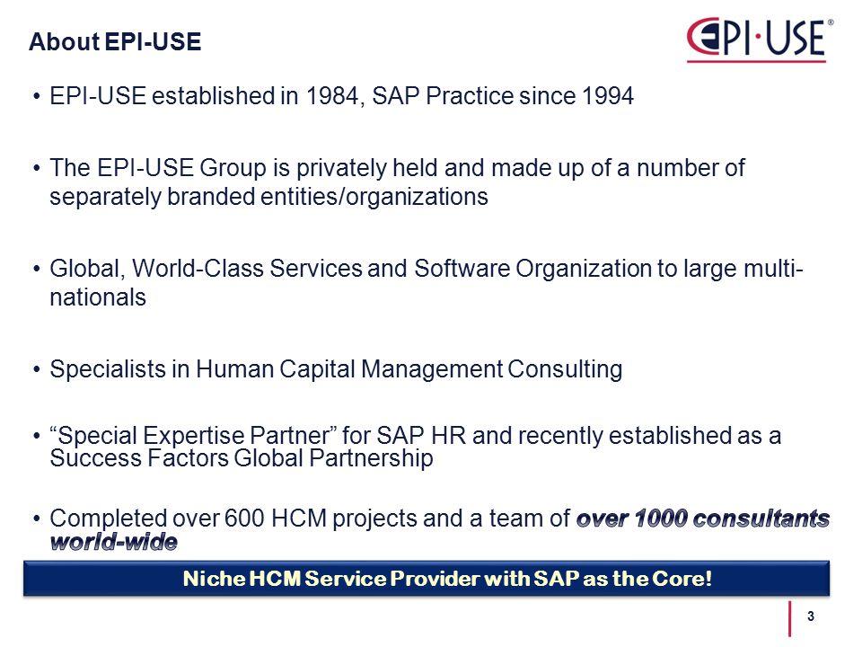 Regan Klein EPI-USE Principal Consultant, Workforce Planning