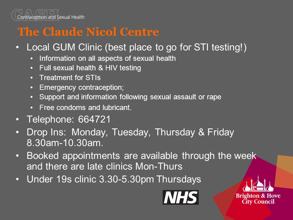 Sexual health clinic brighton open saturday