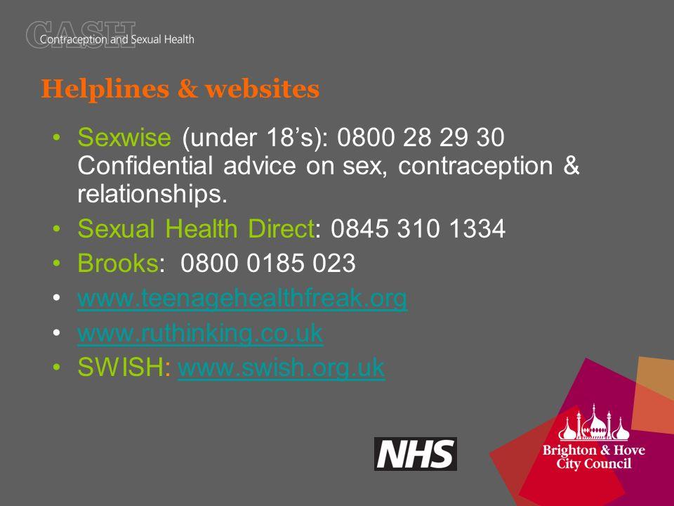 Sexual health nhs helpline direct