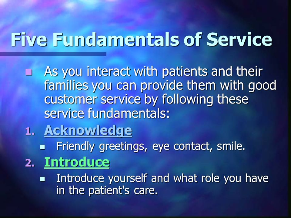 Employability skills advanced health science skills for every five fundamentals of service as you interact with patients and their families you can provide them m4hsunfo