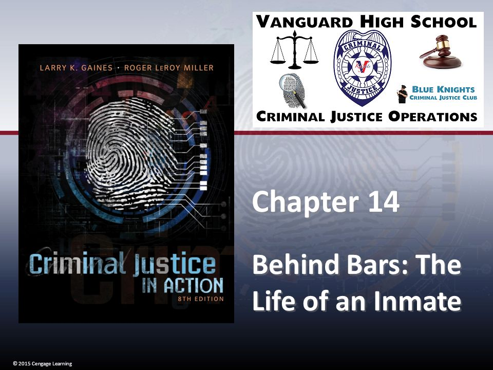 Learning Behind Bars >> 2015 Cengage Learning Chapter 14 Behind Bars The Life Of An Inmate