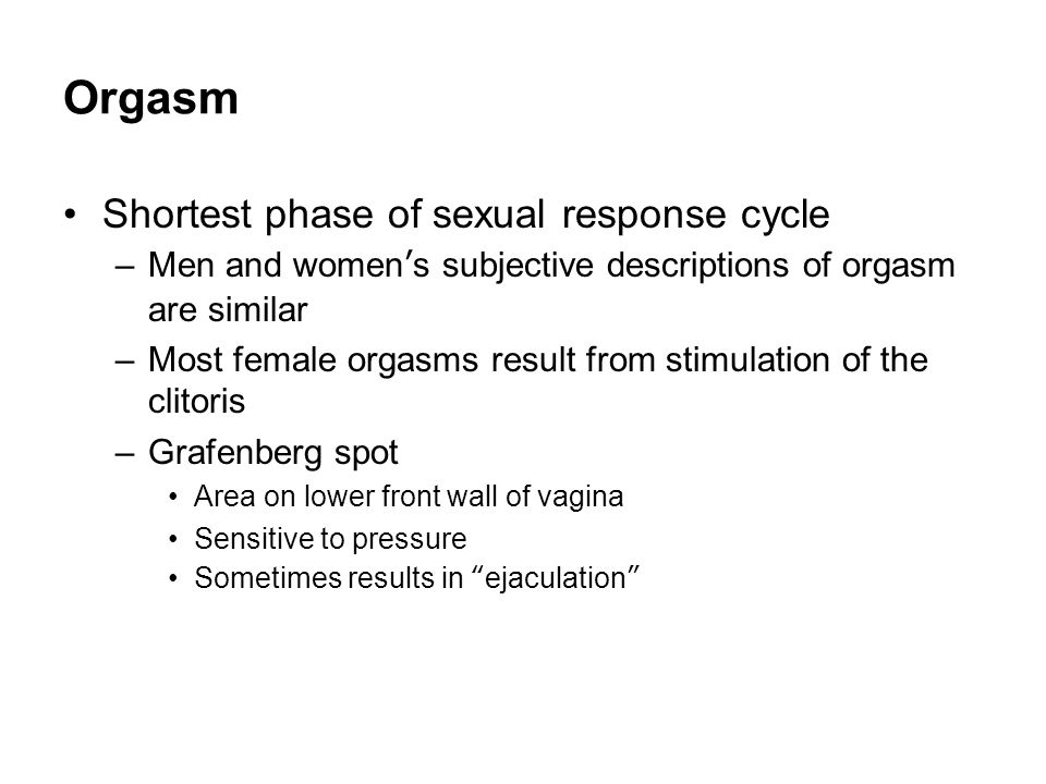 The moral significance of female orgasm