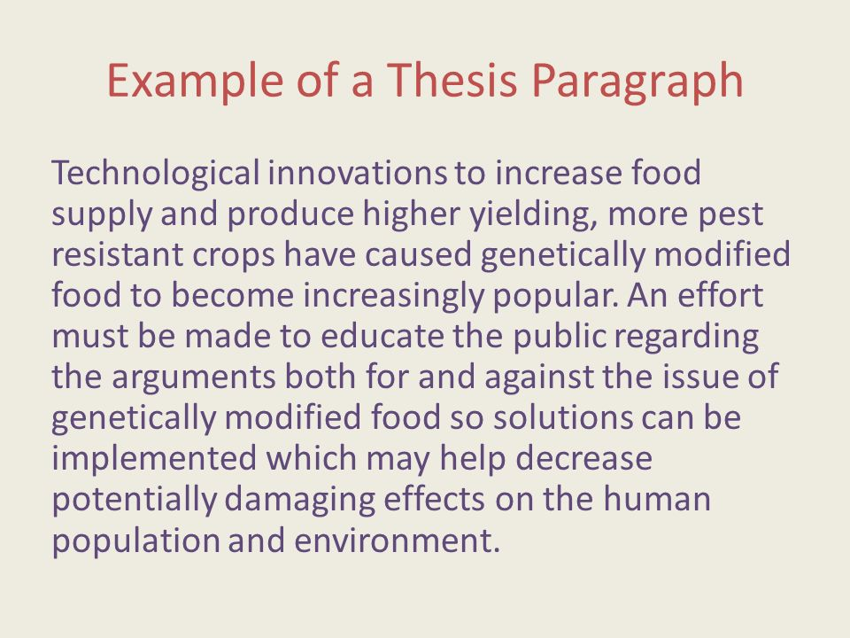Genetically Modified Foods Essay Thesis  Mistyhamel Genetically Modified Food Essay Thesis