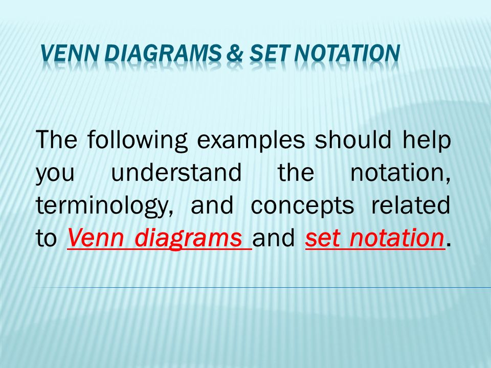 Mdfp Introduction To Mathematics Sets And Venn Diagrams Ppt Download