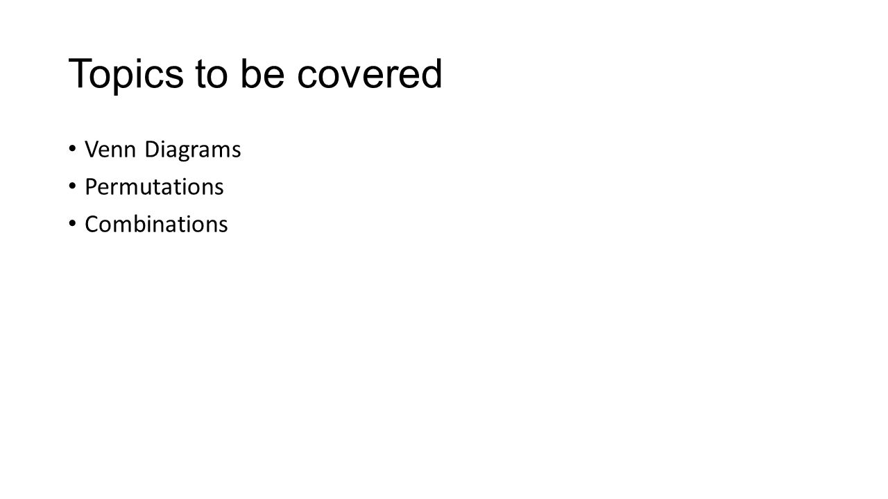 Algebra 2 Chapter 12 Venn Diagrams, Permutations, and