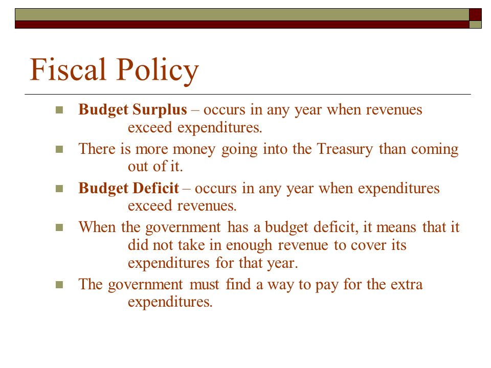 Fiscal Policy Chapter 15 Section 3 Budget Deficits and the National ...