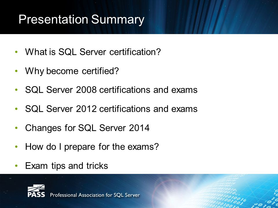 Becoming Certified In Microsoft Sql Server About Me Chris Hyde