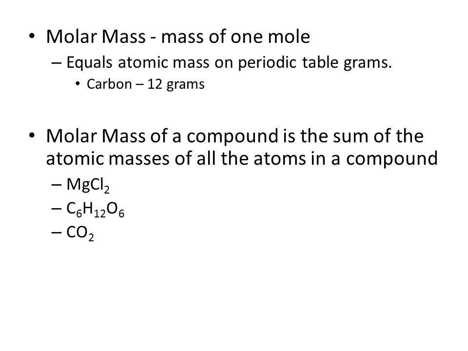 Moles And Molar Mass Counting With Moles Mole Amount Of A