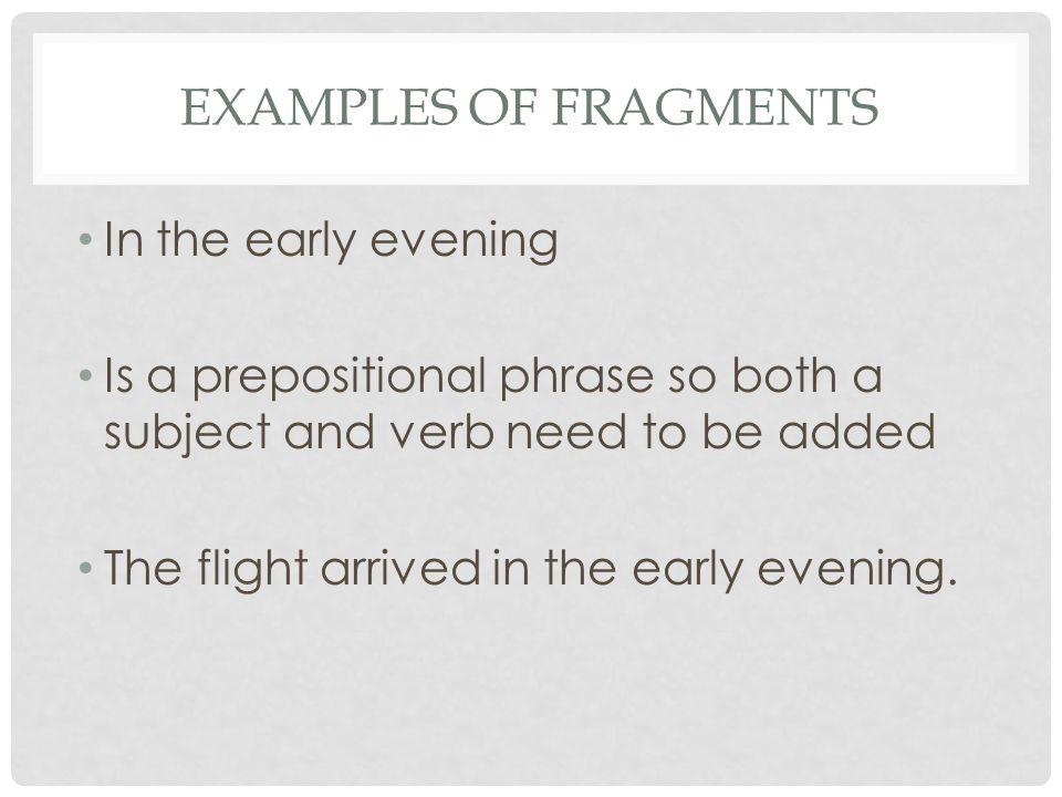 Sentence Or Fragment Avoiding Sentence Fragments Some Groups Of