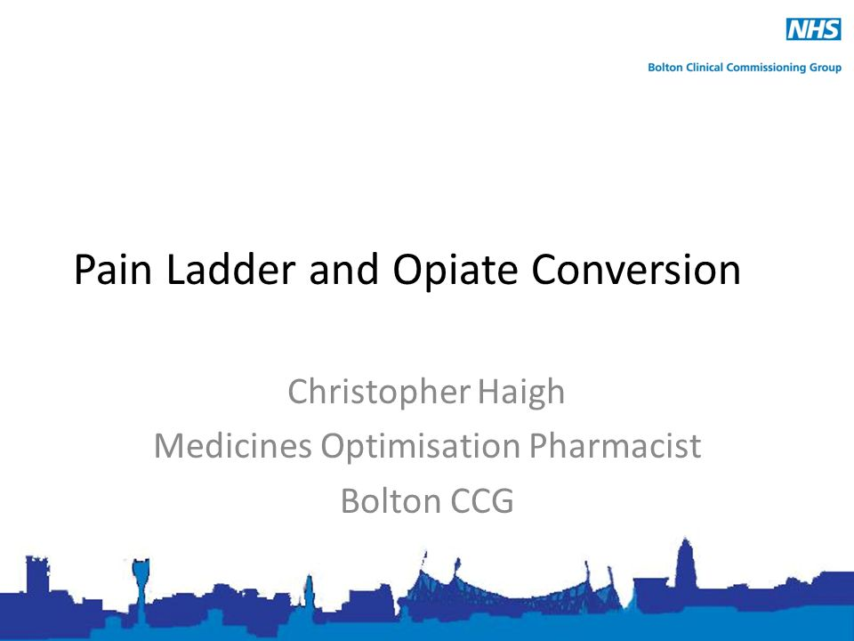 Pain Ladder And Opiate Conversion Christopher Haigh Medicines