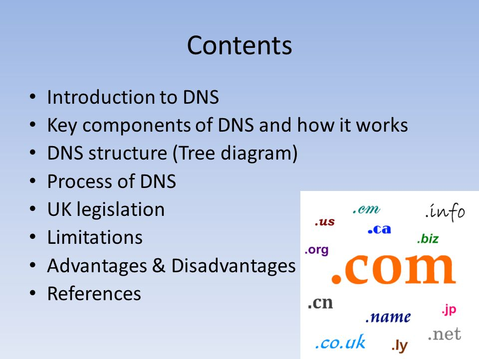 Domain name system dns the technology context b101 coursework 2 2 contents introduction to dns key components of dns and how it works dns structure tree diagram process of dns uk legislation limitations advantages ccuart Image collections