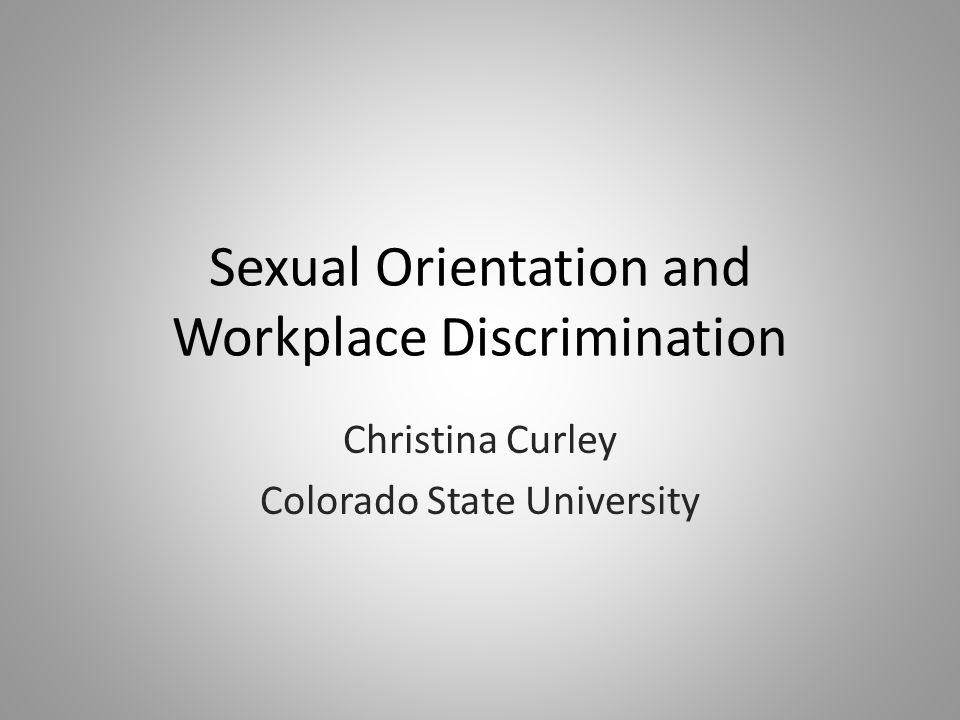 Sexual orientation discrimination in the workplace colorado