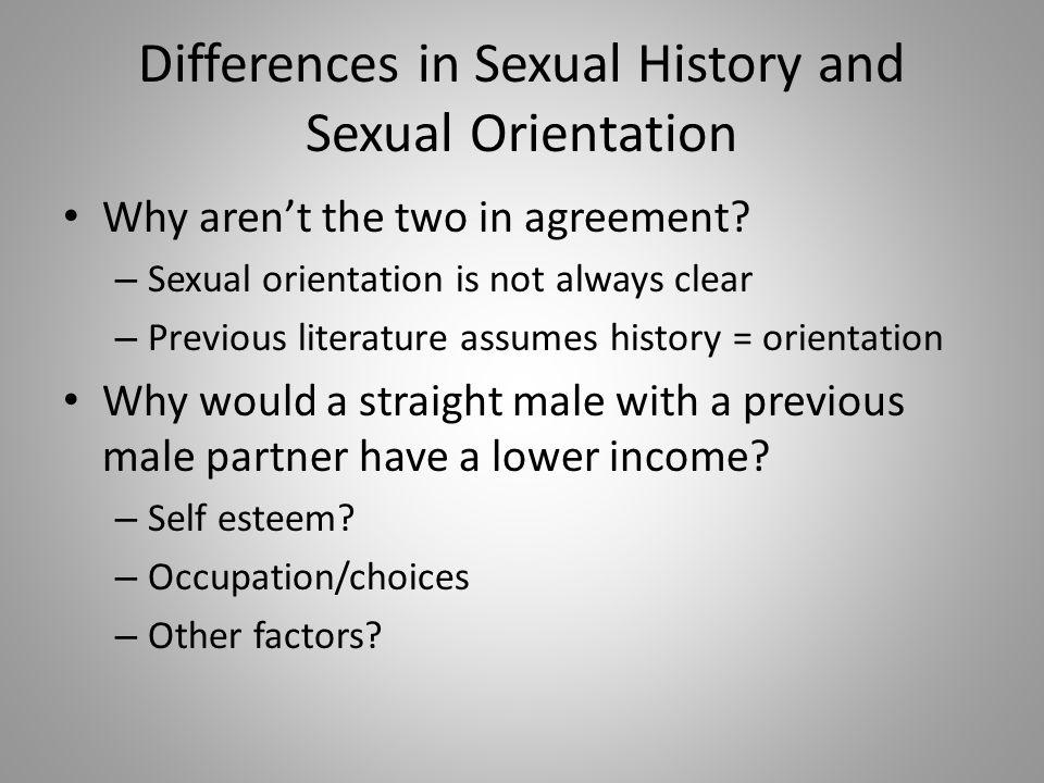 History sexual orientation