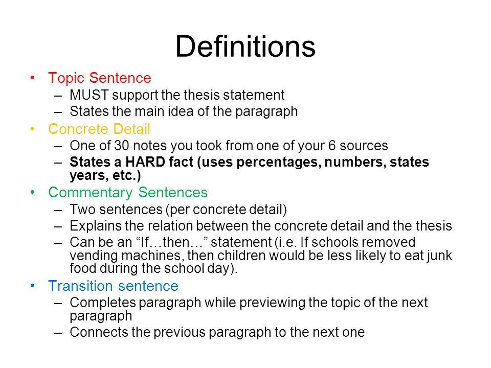 concrete sentence