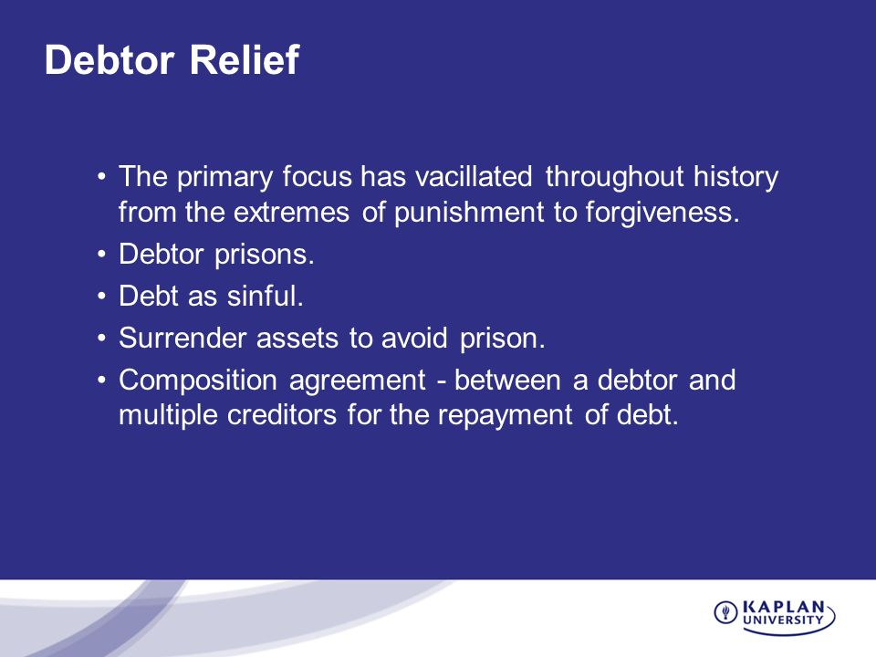 Introduction To Bankruptcy Law Unit 3 Debtor Creditor Relations And