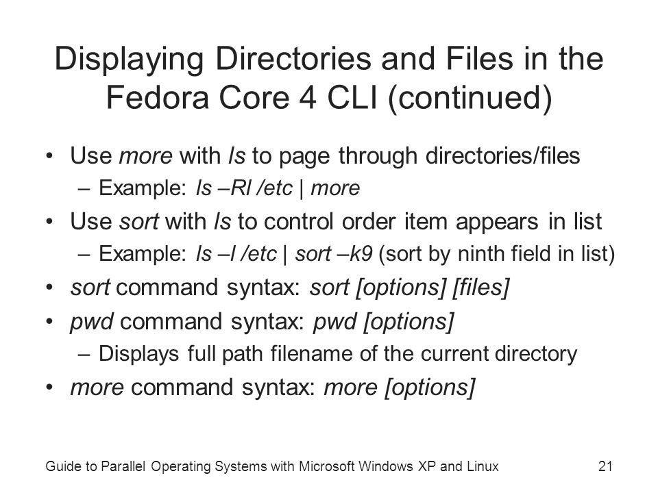 Guide to Parallel Operating Systems with Microsoft Windows