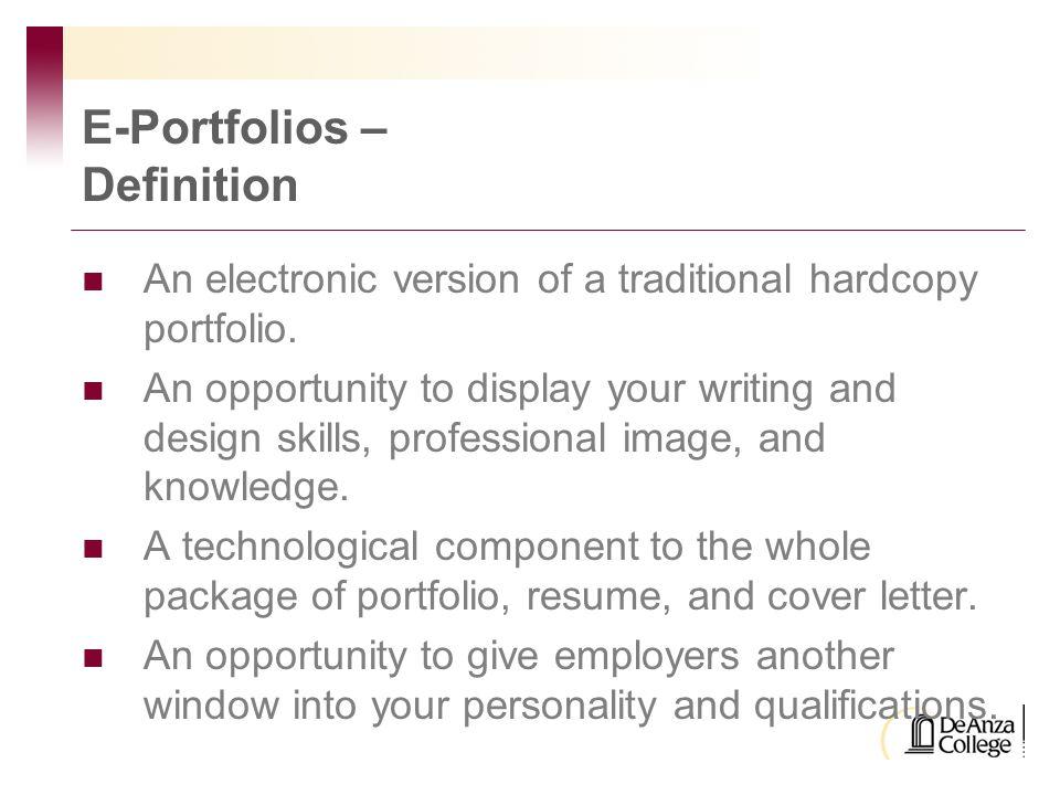 Portfolios C Overview Of Definition
