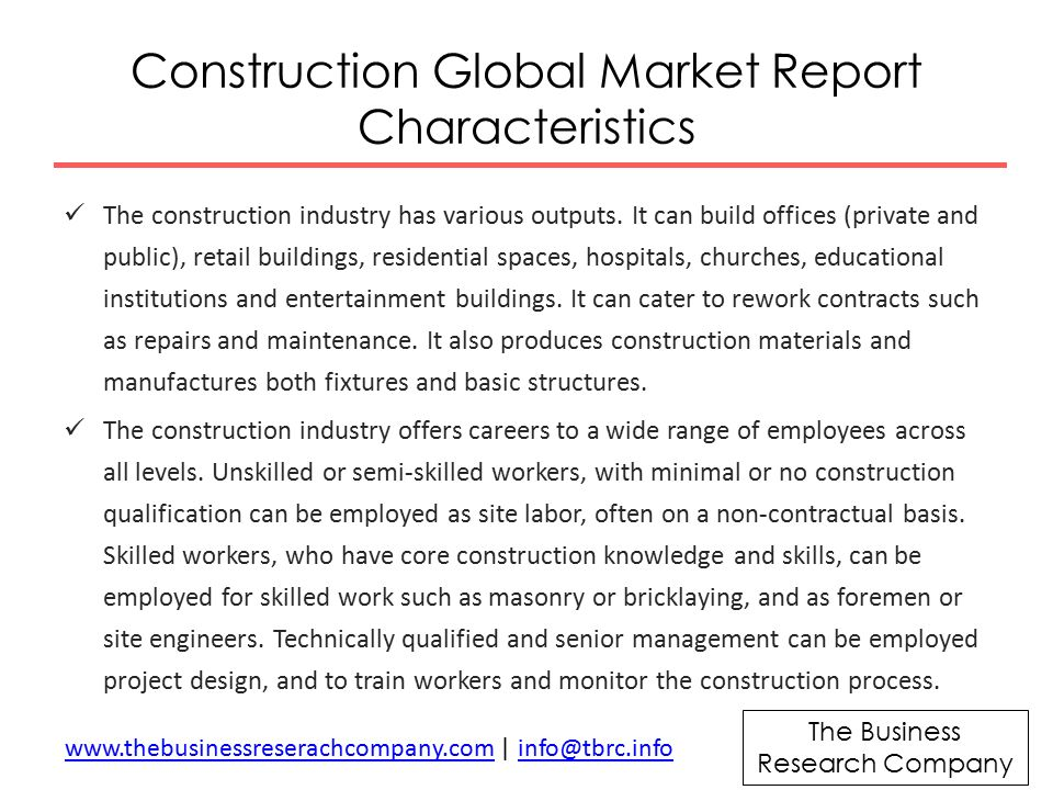 The Business Research Company Construction Global Market