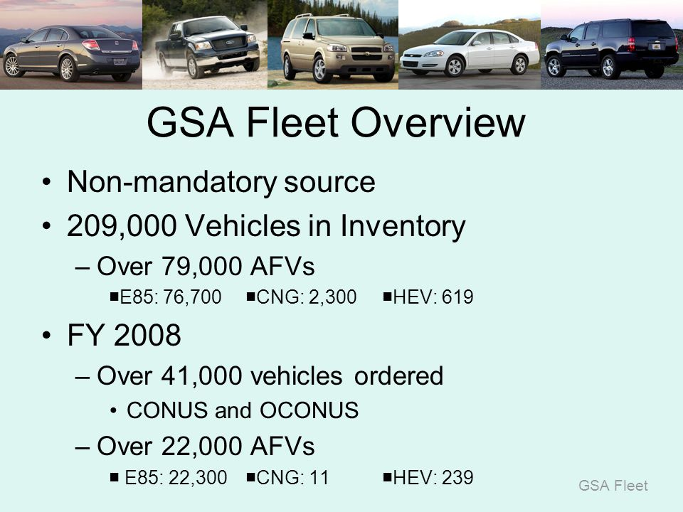 GSA Fleet U S  General Services Administration GSA Fleet An