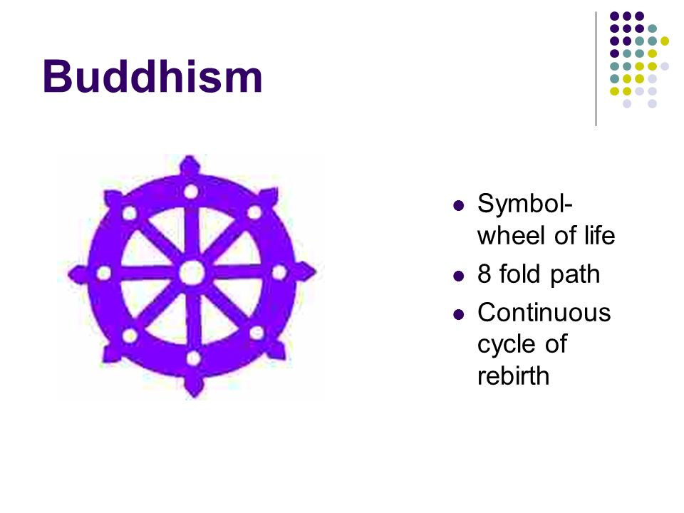 Buddhism Symbol Wheel Of Life 8 Fold Path Continuous Cycle Of