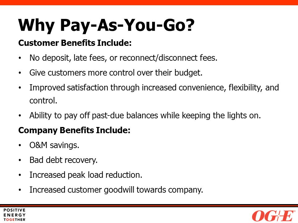 Pay-As-You-Go Final Report February Agenda Safety Moment PAYG