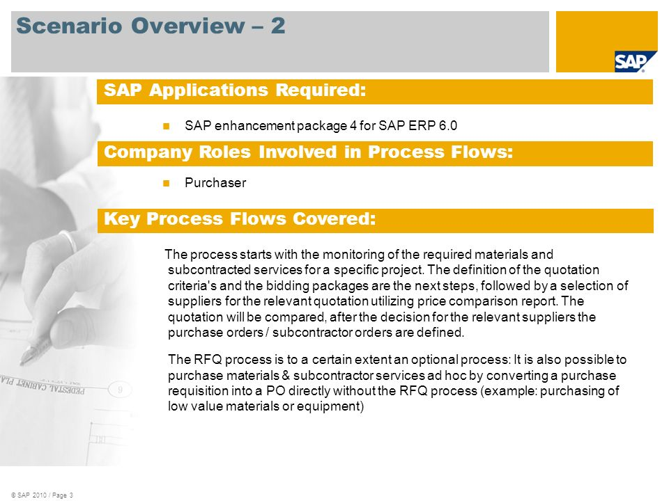 RFQ for Project-based Procurement SAP Best Practices for