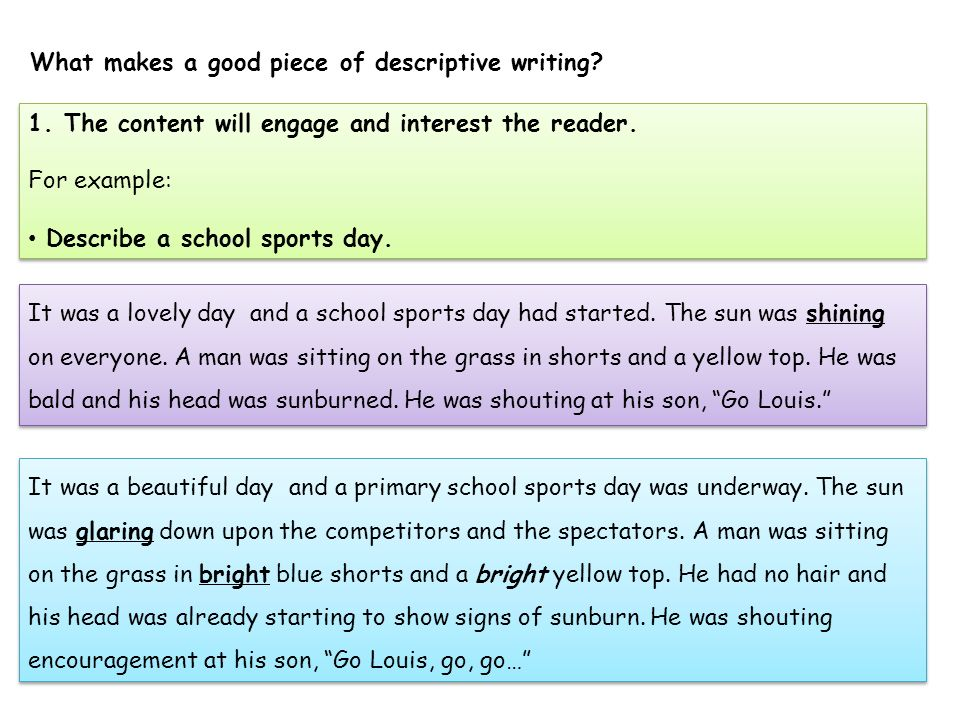 good piece of writing example