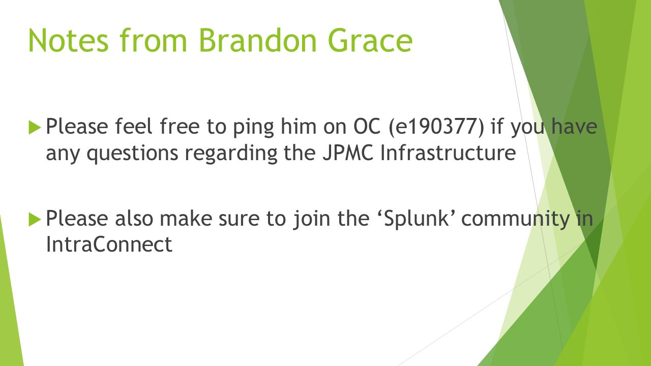Splunk Enterprise Instructor: Summer Partain 3 Day Course