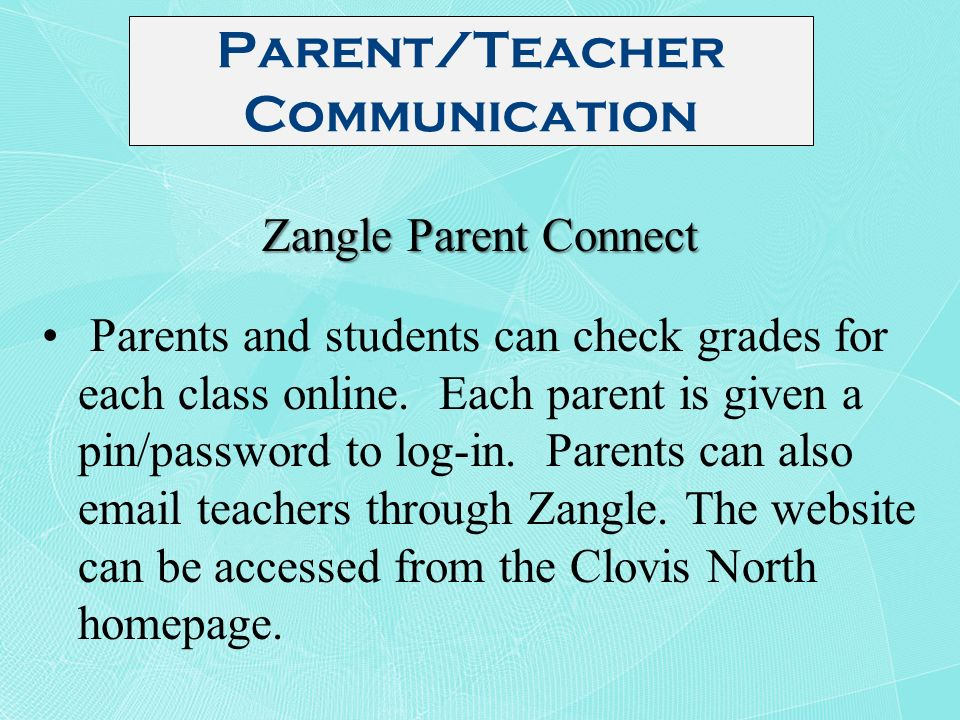 Clovis parent connect