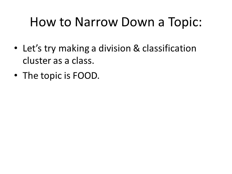easy classification/division essay topics A classification or division essay is a very unlike genre that deals with the classification of organizing the rational connections within keeping these three things in mind would make a classification or division essay much easier to write.