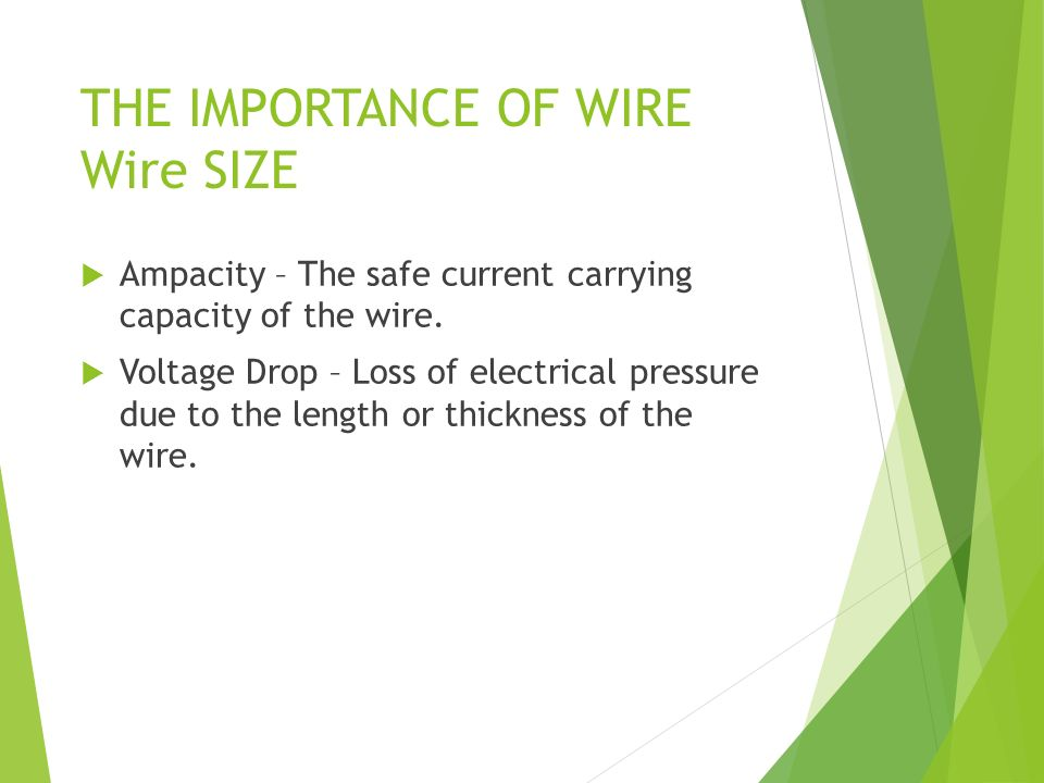 House wiring notes electricity proton positive charge the importance of wire wire size ampacity the safe current carrying capacity of the greentooth Image collections