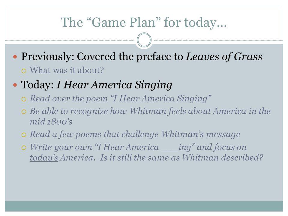 i hear america singing summary