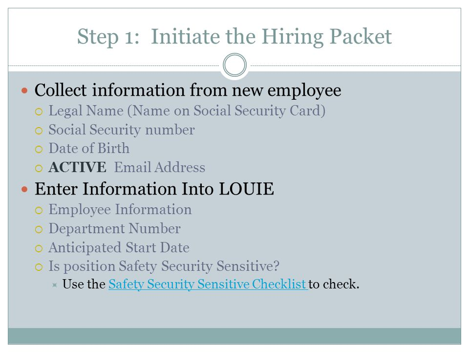 THIS TRAINING IS REQUIRED IN ORDER TO OBTAIN SECURITY TO INITIATE ...