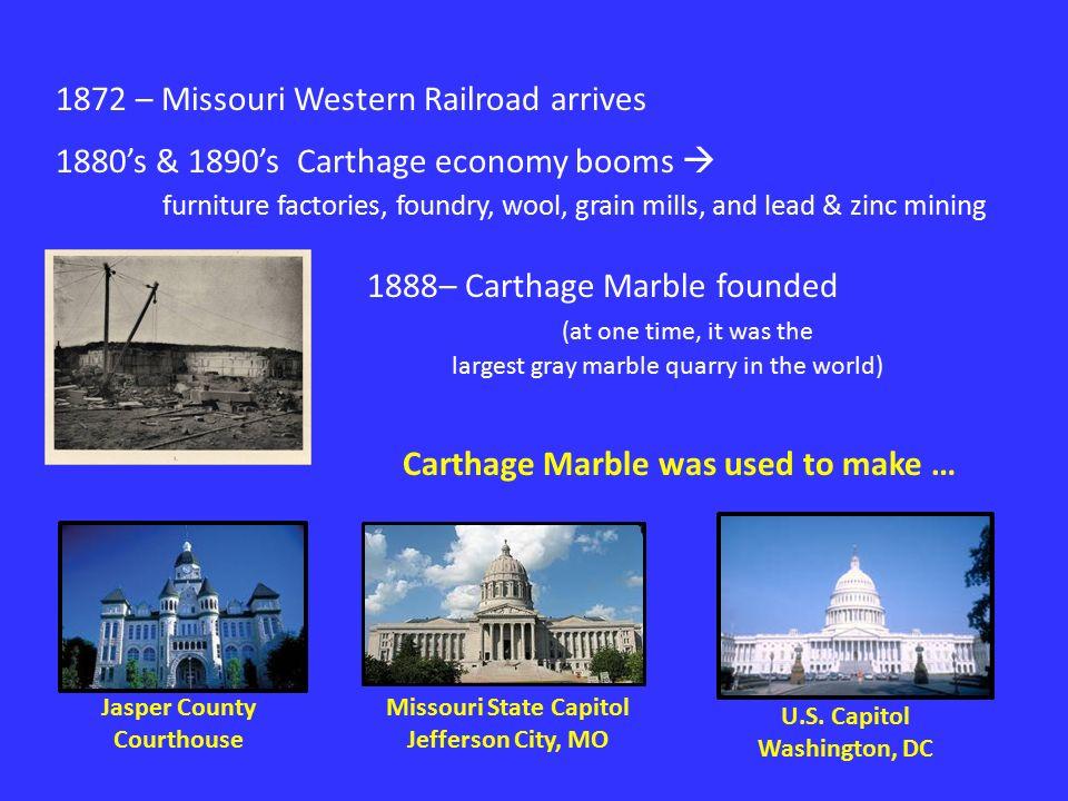 What do you know about… C A R T H A G E  Joplin  Carthage