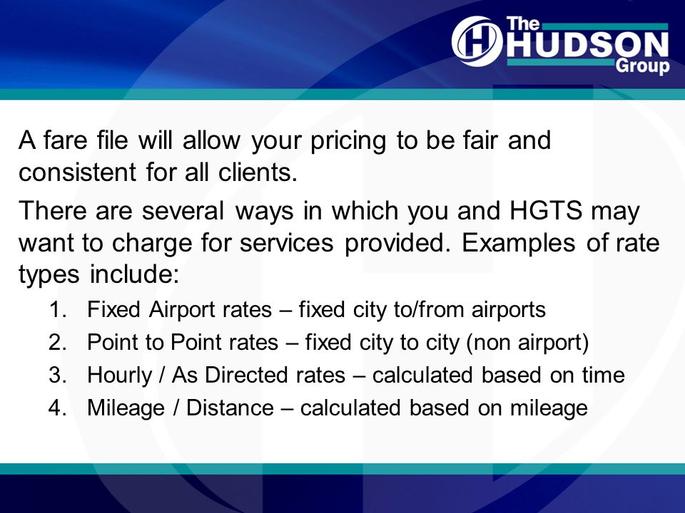 Getting Started Hudson Fare Files Airports Rev 10 Ppt Download
