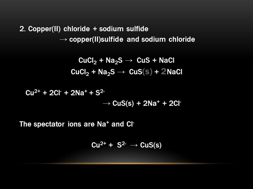 Molecular Total Ionic And Net Ionic Equations 1dium Chloride